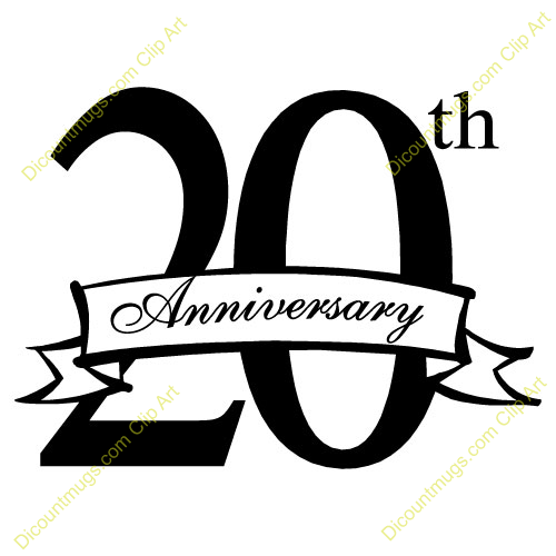 20 year anniversary clipart rh worldartsme com