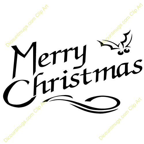 free clipart merry christmas text - photo #37