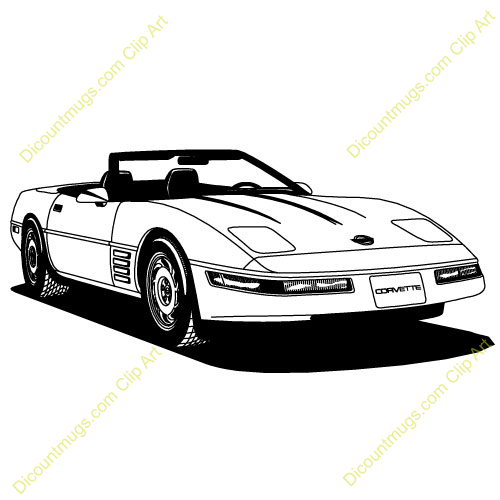 cartoon corvette clipart rh worldartsme com corvette clip art silhouette corvette clip art logo