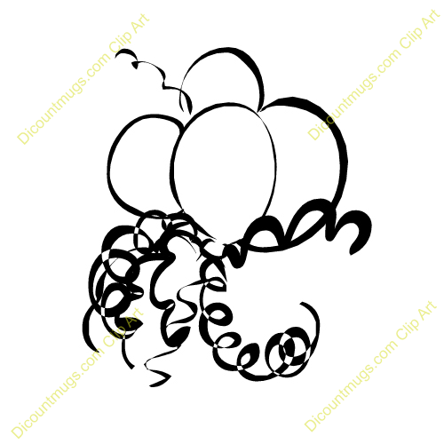clip art free balloons and streamers - photo #39
