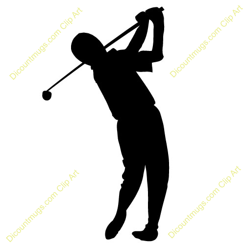 Clipart 10672 golfer - golfer mugs, t-shirts, picture ...