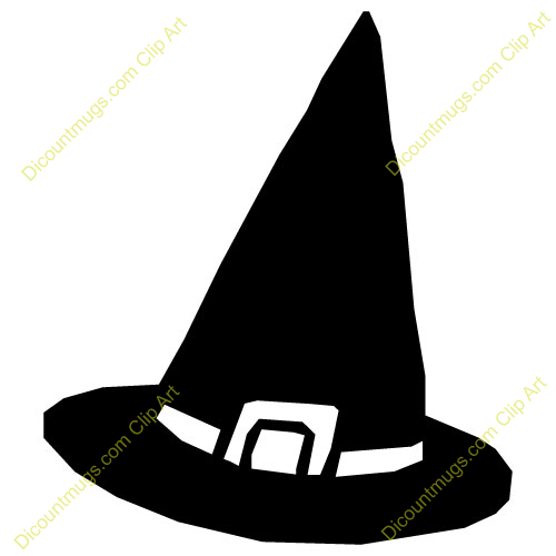 Clipart 10968 Witch Hat - Witch Hat mugs, t-shirts, picture mouse ...