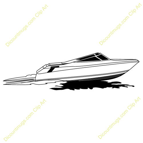 Speed Boat Clip Art Speed boat with water trailSpeed Boat Clip Art