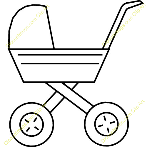 Clipart 11328 Mini Carriage Simple - Mini Carriage Simple mugs, t ...