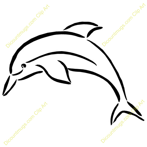 Dolphin outline tattoo - photo#11
