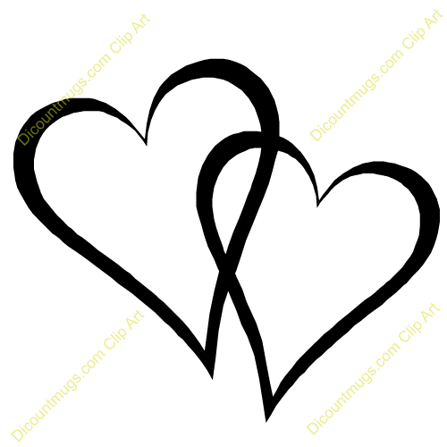 Wedding Hearts Clipart Intertwined Hearts Cli...