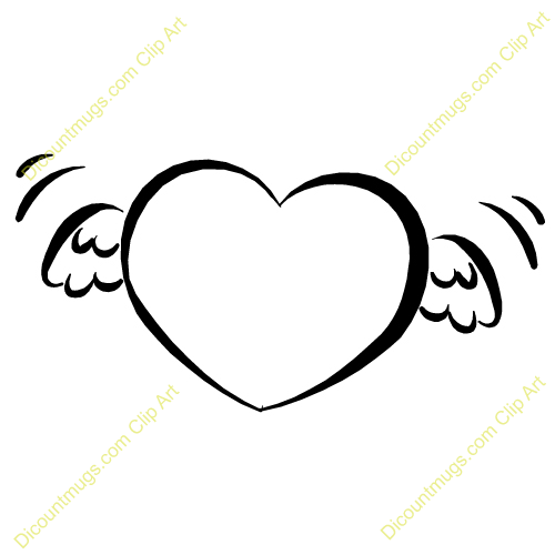 Baby Angel Wings Outline Heart with angel wingsBaby Angel Outline