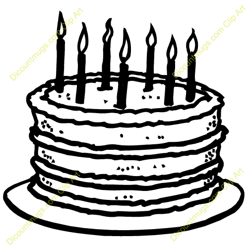 Historic Birthday Cake Clipart