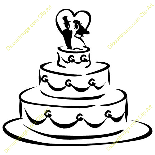 Wedding Gift Clipart Free : name wedding cake description wedding cake with bride and groom on top ...