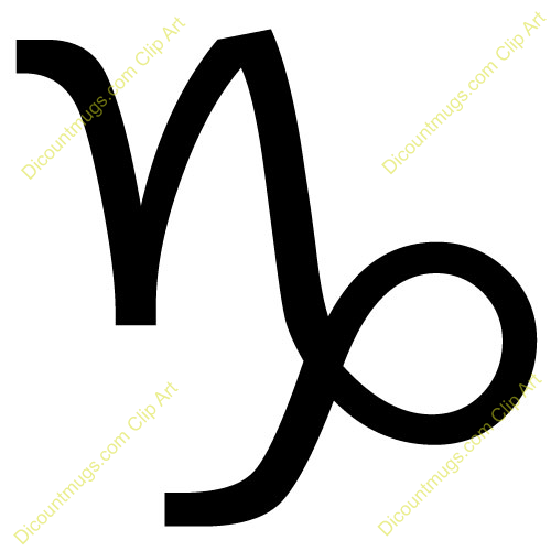 Free Capricorn Sign Clipart - Custom Clip Art - 12028