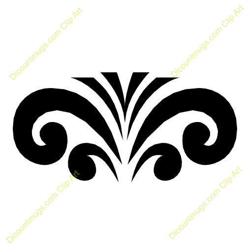 Free Fountain Swirls Clipart - Custom Clip Art - 12058