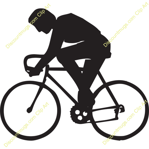 free clip art bike rider - photo #15