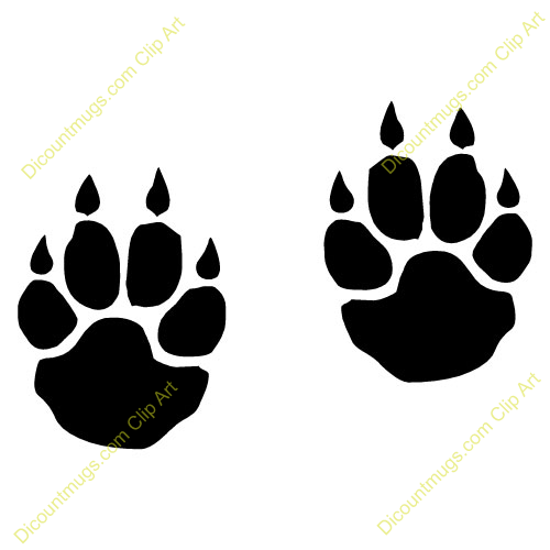 tiger tracks clip art - photo #1