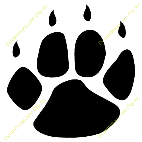 tiger tracks clip art - photo #25