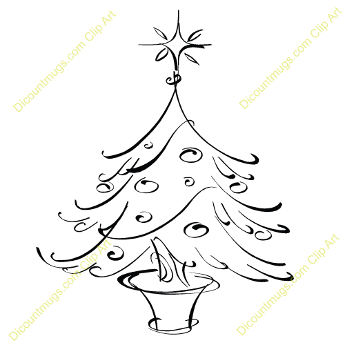 Small Christmas Tree in Planter - 12173