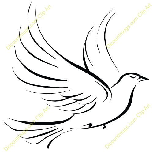 Clipart 12195 Christmas Dove - - 62.6KB