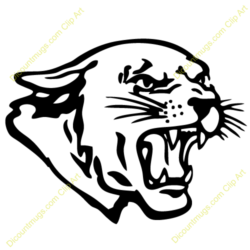 Clipart 12325 panther head - panther head mugs, t-shirts, picture ...