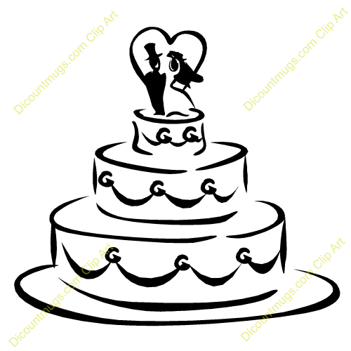 Wedding Cake Toppers Clipart : Wedding Cake - 12518