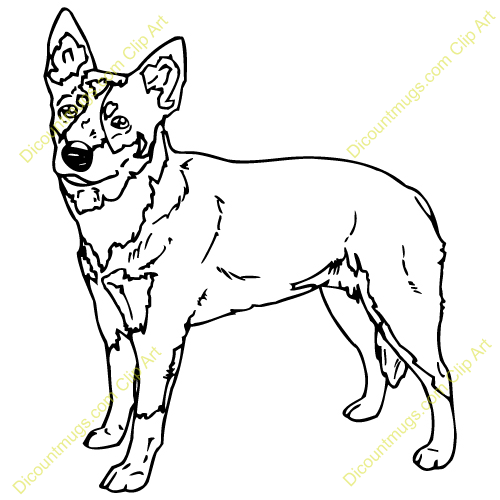 blue dog coloring pages - photo#4