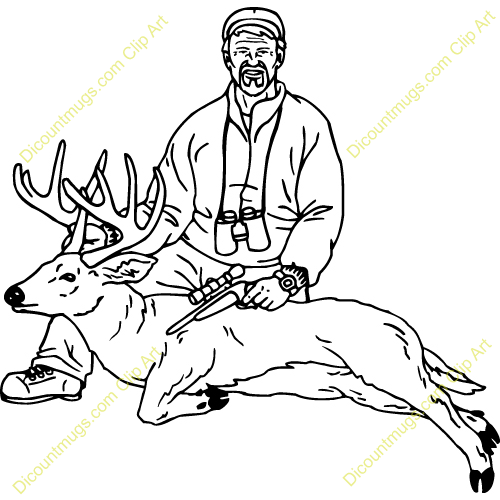 Deer Hunting Clipart Hand gun kill, hunted a deer