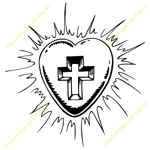 free cross and heart clipart - photo #13