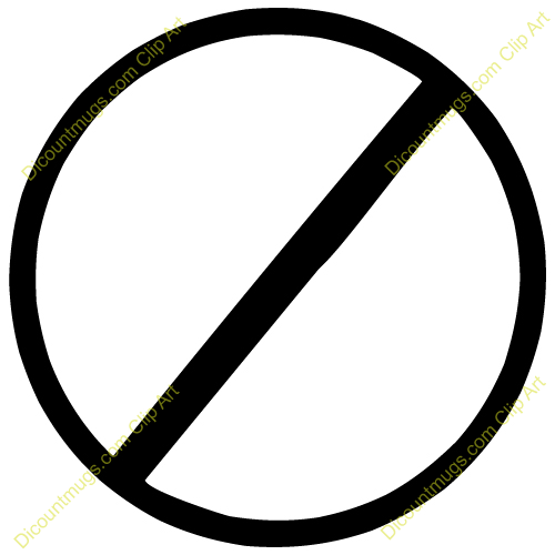 No Sign Clipart With this nosign clip art.