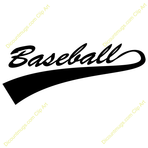 Baseball font with tail generator