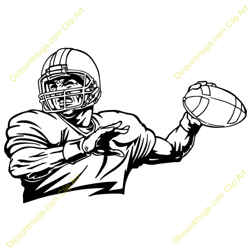 free quarterback throwing clipart - custom clip art