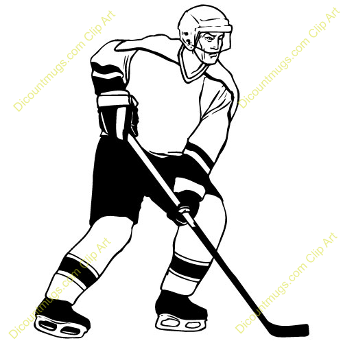 Hockey Player Shooting Clipart Hockey player helmet mask