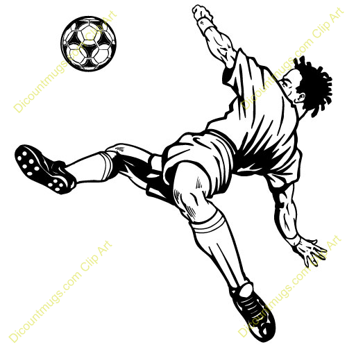 How to draw a soccer player bicycle kick