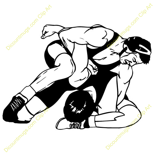 Wrestling Logo Clip Art Wrestler applying arm lock