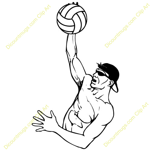 volleyball spike clipart - photo #31