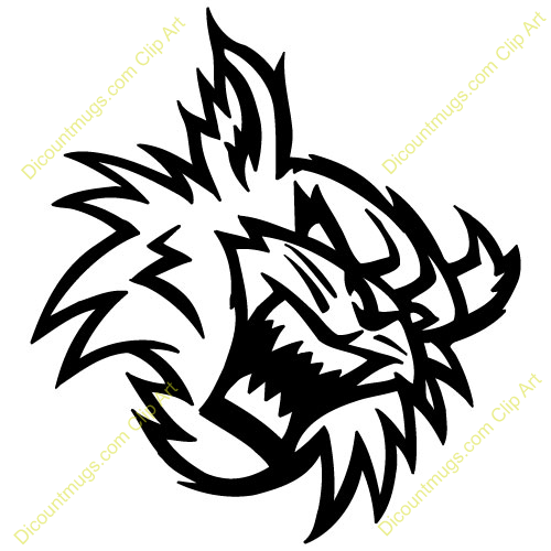 Clipart 14556 angrywildcathead - angrywildcathead mugs, t-shirts ...