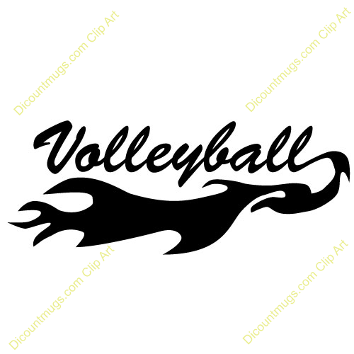 clipart pictures of volleyball-#28
