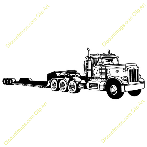 Tractor Trailer Clip Art : Tractor trailer truck clipart imgkid the image