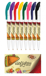 Customized White Full Color Wrap Pens