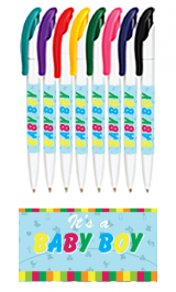 Personalized White Full Color Wrap Pens