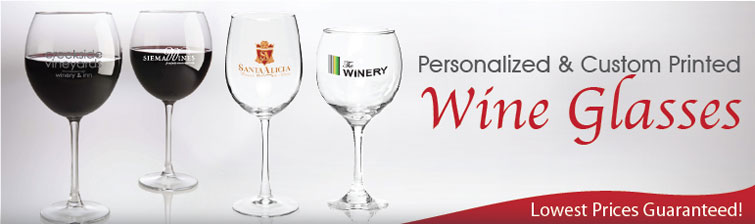 buy cheap personalized wine glasses custom engraved with your logo