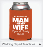 Design Personalized Wedding Koozies Custom Can Coolers Online