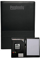PF15 - 13 x 9.125 in. Double Stitched Padfolio with Calculator