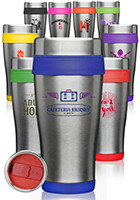 ST58 - #ST58 16 oz. Insulated Personalized Stainless Steel Travel Mugs