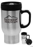 TM245 - #TM245 16 oz. Stainless Steel Personalized Travel Mugs
