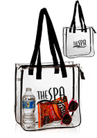 TOT209 - Vinyl Cheap Clear Tote Bags with Zipper