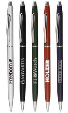 Slim Executive Silver Personalized Hotel Pens