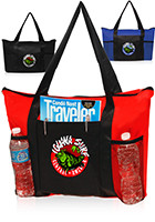 TOT131 - TOT131 Zippered Promotional Non-Woven Tote Bags