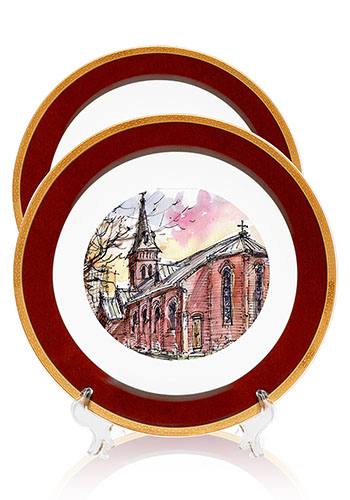 Custom Printed Ceramic Tiles For Gifts. Commemorative Plates  sc 1 st  DiscountMugs & Commemorative Plates u0026 Custom Ceramic Tiles | DiscountMugs
