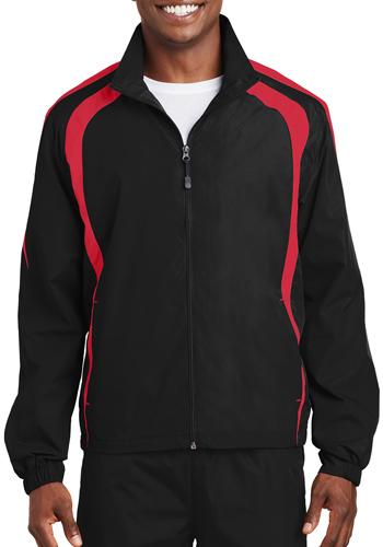 Custom Embroidered Sport-Tek Colorblock Raglan Jacket JST60 Personalized with Custom Design or Company Logo