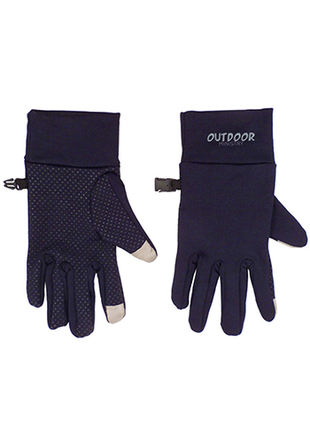 Customizable Touchscreen Spandex Gloves Silicone Grip Pattern