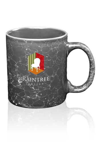 11 oz. Bran Marble Coffee Mugs | 7111