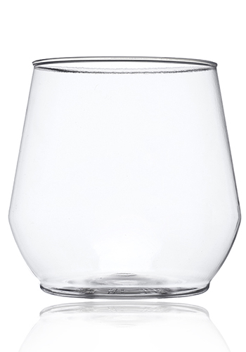 Custom 14 oz. Plastic Stemless Wine Glasses